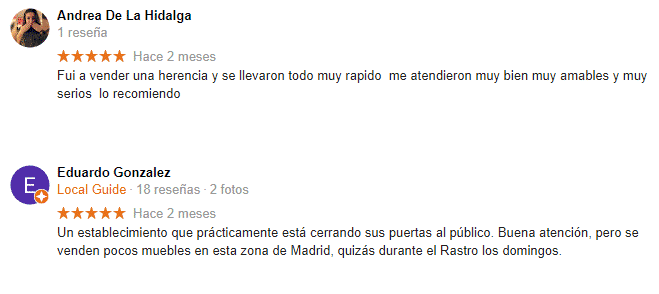 Opiniones antiguedades bermudez 4